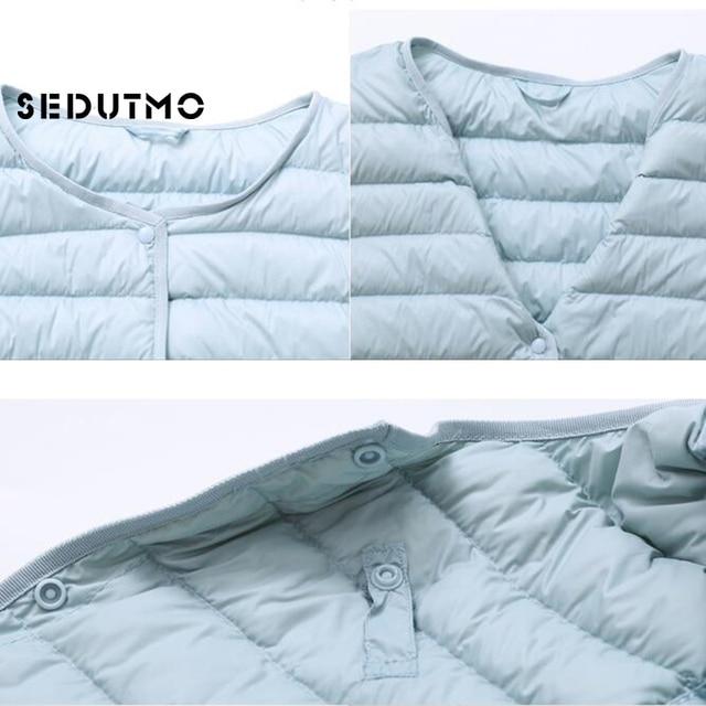 SEDUTMO Winter Women Duck Down Jacket Ultra Light Coat Short Autumn Slim Casual Puffer Outwear ED617 6