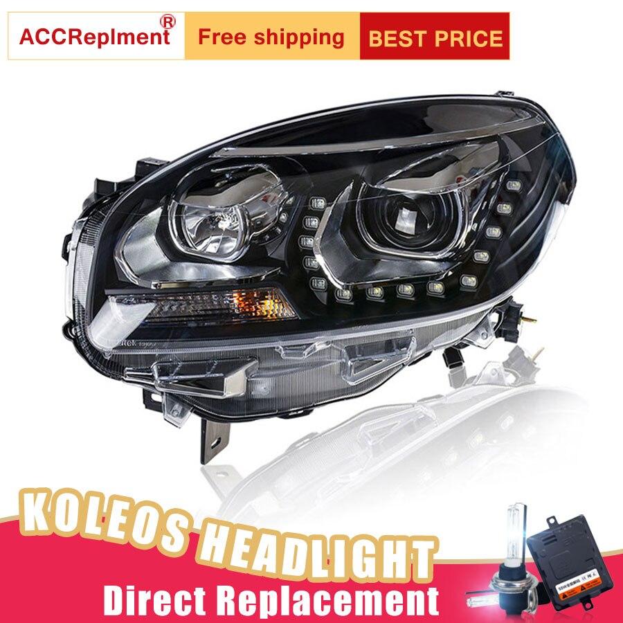 Image 5 - 2Pcs LED Headlights For Renault Koleos 2012 2016 led car lights Angel eyes xenon HID KIT Fog lights LED Daytime Running LightsCar Light Assembly   -