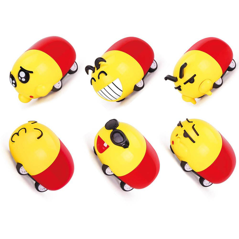 RCtown Children Mini Cartoon Pull Back Alloy Car Models Funny Emoticon Toys Kids Gifts D15