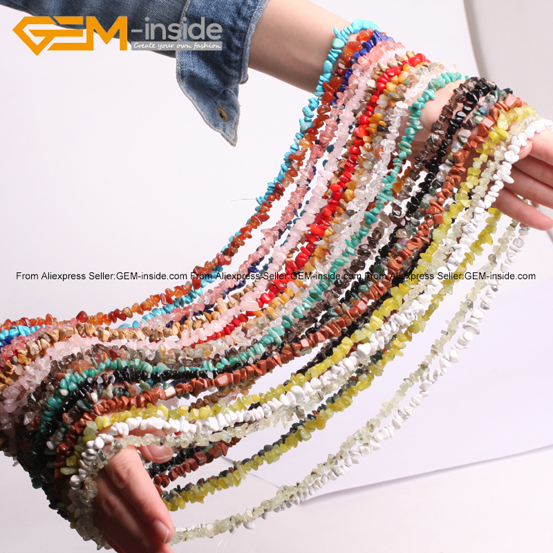 Gem-indide 7-8mm Natural Stone Beads 34inch Chips Beads For Jewelry Making Beads Necklace DIY Beads Bracelets For Women Gift