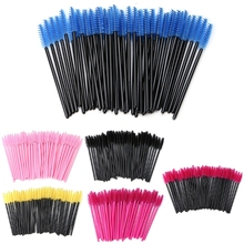 50Pcs Mini Eyelash Disposable Mascara Wand Applicator Brush Extension Makeup Set HTY07