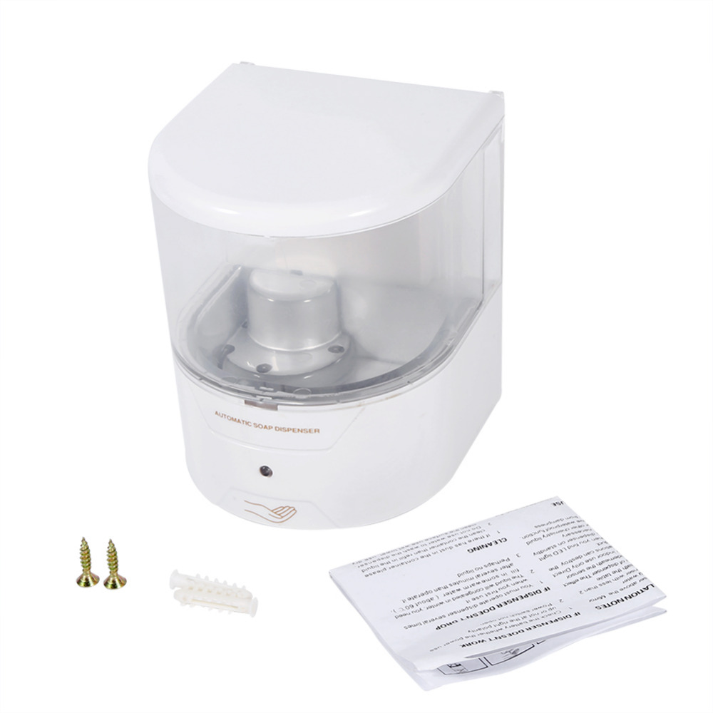 bathroom soap dispensers wall mounted. 600ML Durable White Automatic Sensor Soap Dispenser Wall Mounted For Kitchen Bathroom Hotel-in Liquid Dispensers From Home