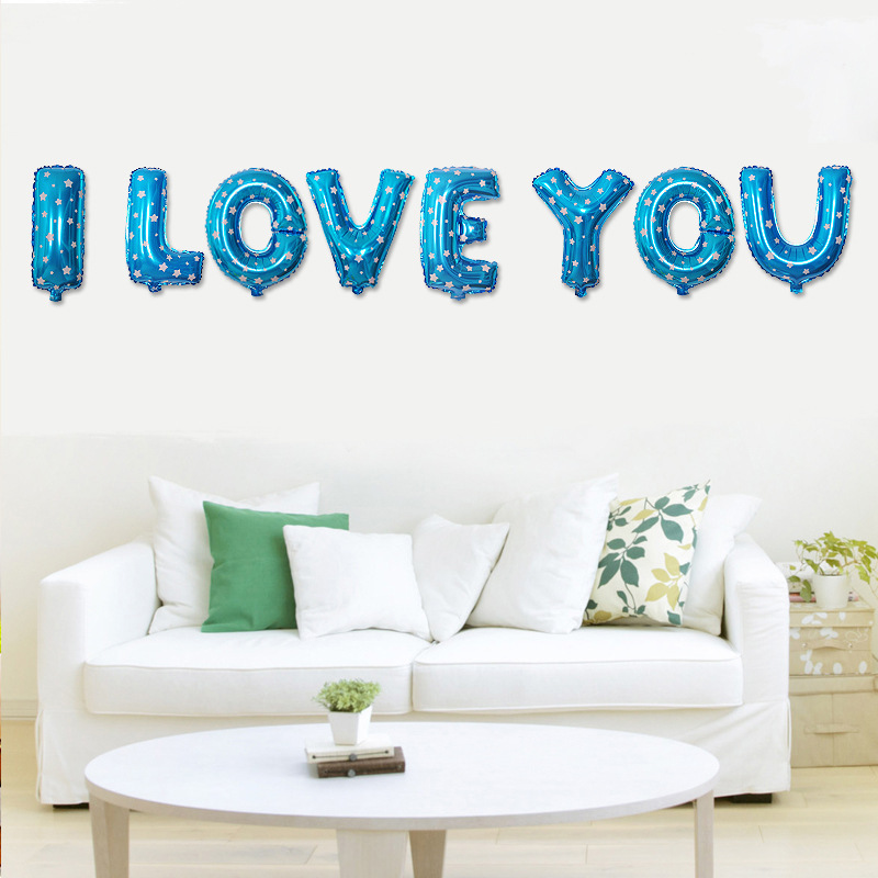 I LOVE YOU Letter Foil Balloons Love Balloons Bachelorette Party ...
