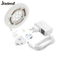 Jiaderui LED Strip 1 2M Motion Sensor Night Light Warm White Dimmable Bed Strip Light With