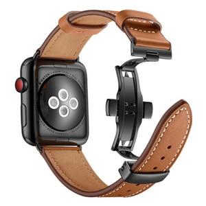 Image 5 - Prawdziwy skórzany pasek do zegarka iWatch Apple Watch seria 5 4 3 2 1 38mm 40mm 42mm 44mm wymienny pasek na rękę