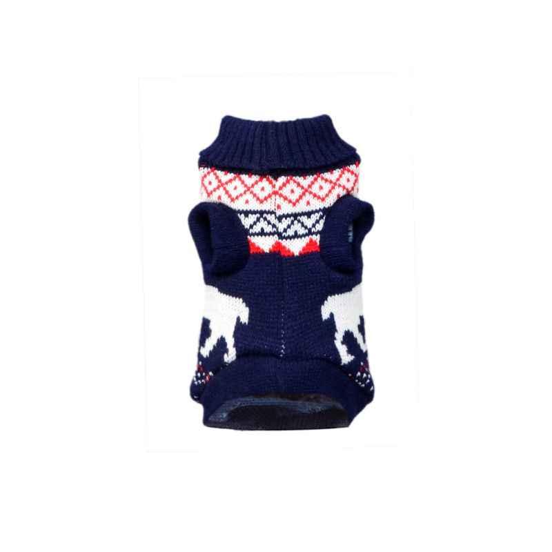 개 옷 두꺼운 겨울 스웨터 개 사슴 스웨터 크리스마스 귀여운 엘크 개 의류 니트 스웨터 따뜻한 통풍