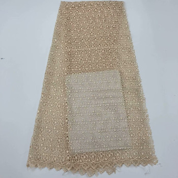 2019 High Quality French African Guipure Cord Swiss Lace,Nigeria soluble Water Lace Fabric For dress Gift  5yard/lot RL0518