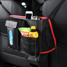 1 Pieces Multi-function Car Interior Stowing Tidying Seat Back Storage Bag Tissue Drink Phone Holder недорого