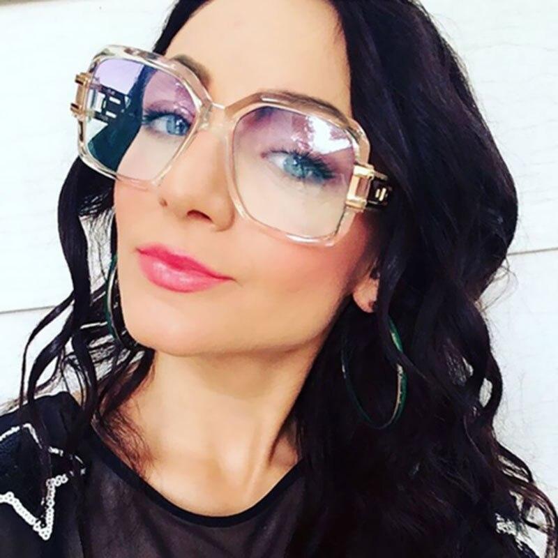 New Brand Designer Oversized Sunglasses Women Men UV400 Lady Sun Glasses Female Shades Fashion Square Clear lens Big Size