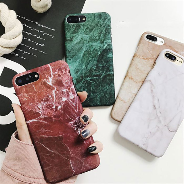 the best attitude 93a53 53203 Luxury Retro Marble Pattern Cover For Samsung Galaxy S7 Edge S8 S9 Plus  Note 8 Hard PC Back Case For iPhone 5 5S 6S 7 8 Plus X