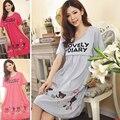 Мода Лето Ночная Рубашка Для Женщин Плюс Размер Коротким Рукавом лактации грудное вскармливание платье Для Беременных Кормящих юбка Ночные Рубашки LB