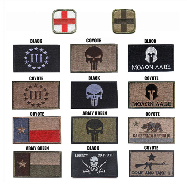Cloth Medical Cross Punisher Patch Embroidery Skull Tactical Patch Military  Hook And Loops Morale Flag Armband e020dbc1a89