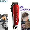 Kemei 9 Вт Парикмахерская мощная машинка для стрижки волос профессиональный триммер для волос для мужчин Электрический резак машинка для стри...