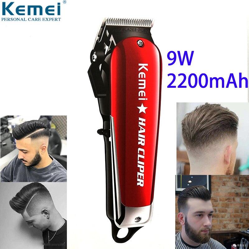 Kemei 9 W Barber tondeuse à cheveux puissante tondeuse professionnelle pour hommes coupe-cheveux électrique Machine de coupe de cheveux coupe de cheveux Salon tondeuse