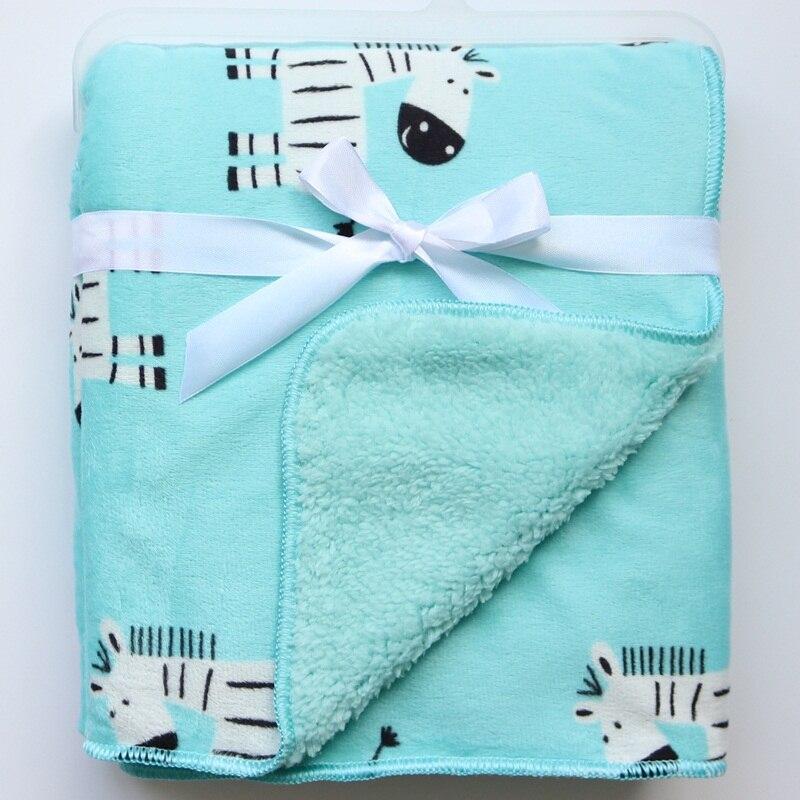 New Baby Blanket Fashion Coral Fleece Cartoon Blankets Infant Swaddle Bebe Stroller Wrap Blanket Newborn Baby Bedding BedSpread