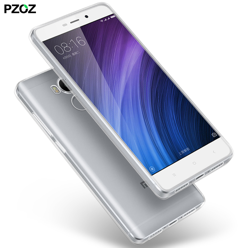 PZOZ Xiaomi RedMi 4 Case Silicone Cover Original Xiaomi RedMi 4 Pro Slim Transparent Protection Soft Shell Redmi 4X Redmi 4A