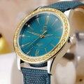 Yazole 2017 reloj de cuarzo de oro señoras de las mujeres famosa marca de lujo de oro reloj de pulsera relogio feminino reloj mujer montre femme