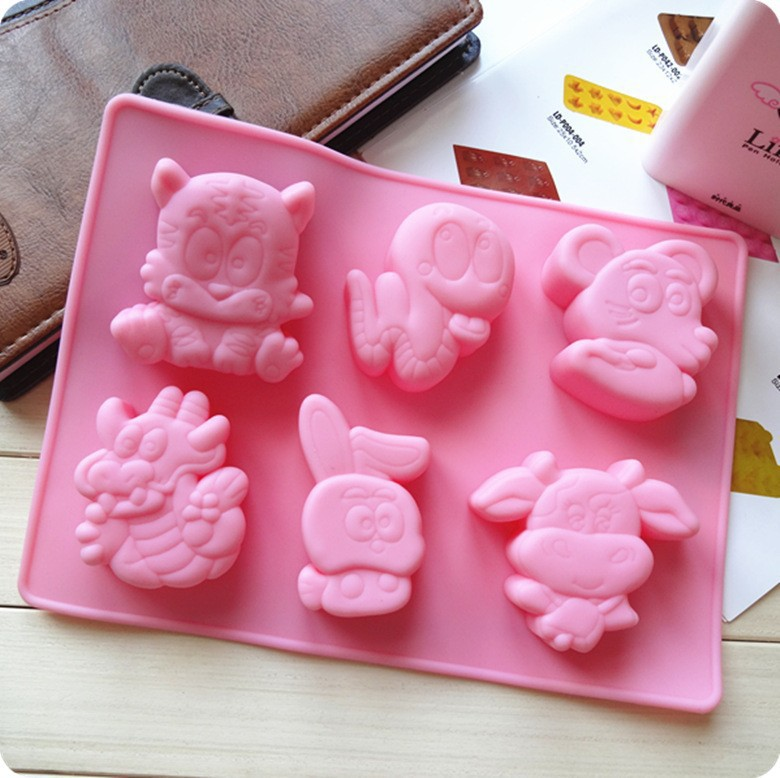 Silicone Chinese Zodiac Rat-snake Cake Chocolate Soap Pudding Jelly Candy Ice Cookie Biscuit Mold Mould Pan Bakeware Wholesales