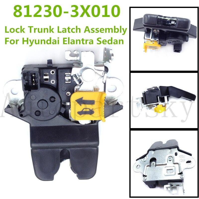 New Rear Lock Trunk Latch Assembly 812303X010 For Hyundai Elantra Sedan Tail Gate Latch 2011-2014 81230-3X010 81230 3X010