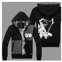 Anime Sword Art Online Kirito Jacket Hooded Casual Sweatshirt Hoodie