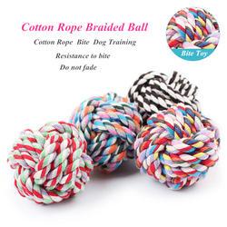 JCPAL разноцветные хлопчатобумажной веревки плетеные Кинологический мяч интеллектуальной Кинологический Игрушки экологичный Hand Made Хлопок