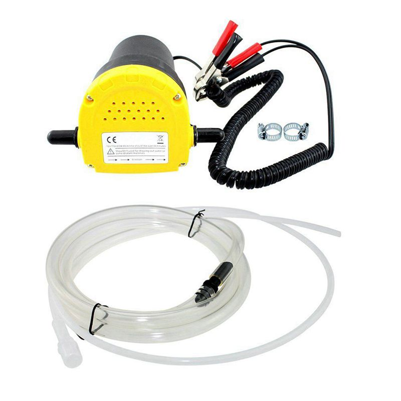 12V 60W huile/pétrole brut fluide puisard extracteur Scavenge échange pompe de transfert aspiration pompe de transfert + Tubes pour Auto voiture bateau Mot