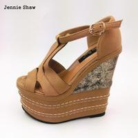 16cm High Heels Sandals Women Platform Sandals Candy Color Shoes For Women Sys 1114
