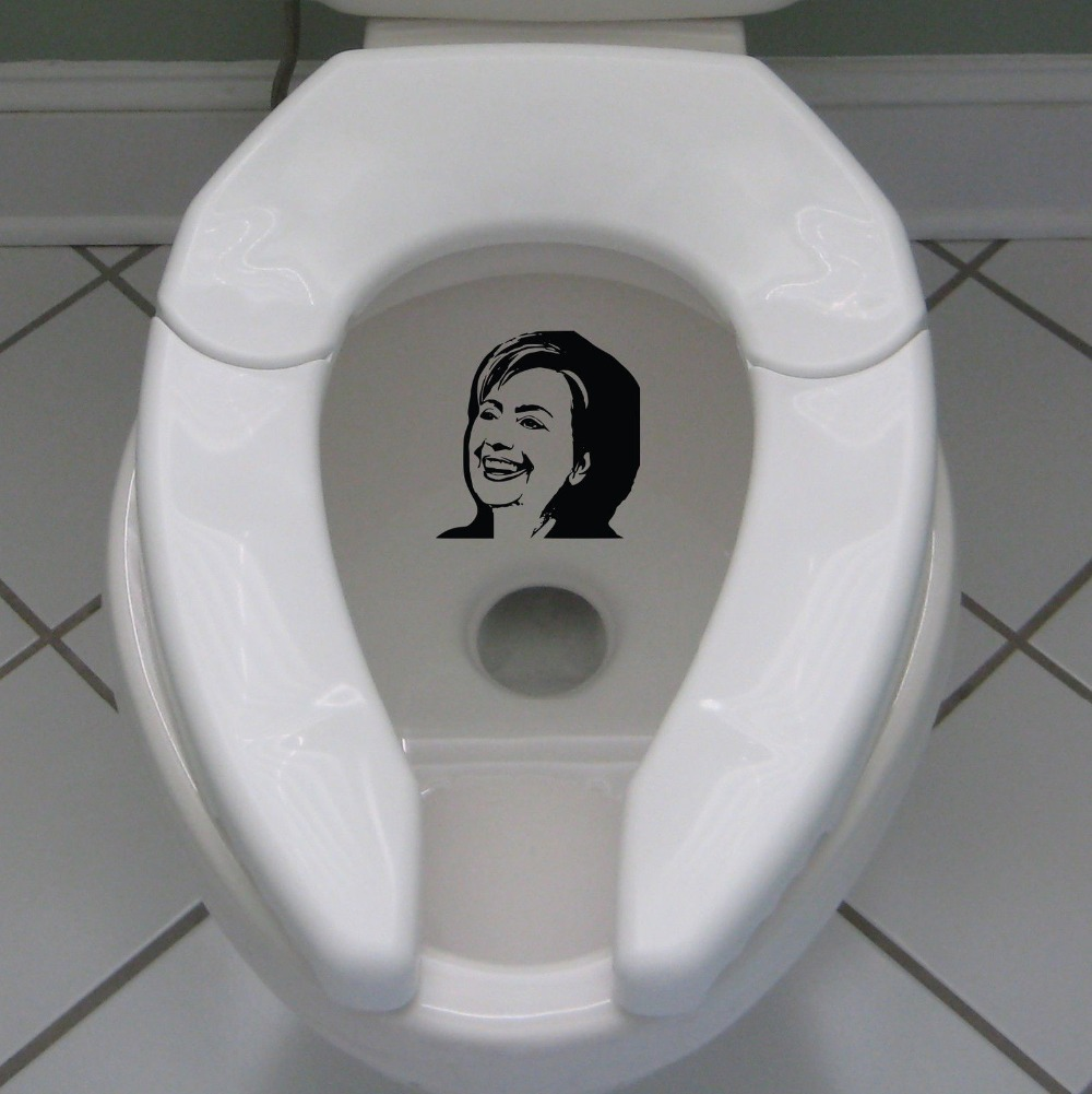 Literally Piss On Hillary Clinton Toilet Sticker Decal 2016 Election Vote USA Sticker Hillary Sticker for Toilet Switch A-135 image