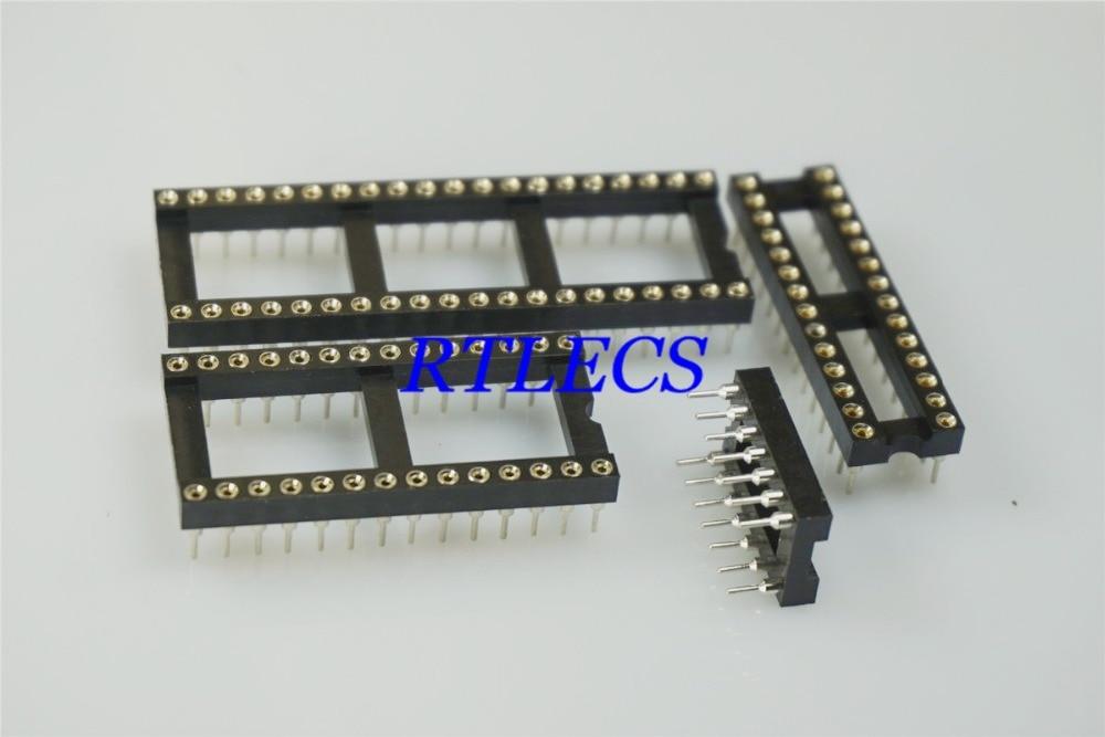 Image 3 - 50 шт. IC розетка 6 8 12 14 16 18 20 22 24 28 32 40 42 48 Pin DIP обрабатываемая контактная розетка с круглым рукавом внутренняя 0,5 мм сквозные отверстия ОловоСоединители    АлиЭкспресс