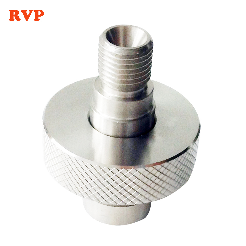 PCP Paintball Din Station G5/8 Handle Wheel And 1/4bspp Male 60 Degree Cone Stem Stainless Steel