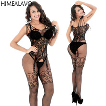 Sexy Lingerie Bodysuits Jumpsuit Stockings Teddies Exotic Apparel Full-Body Hollow Special-Use