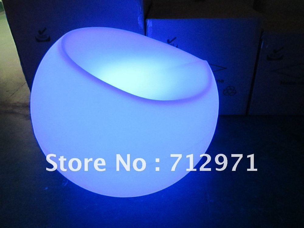 55cm LED lounge leisure chair sofa 16colors changed mood garden sofa /luminous sofa piece