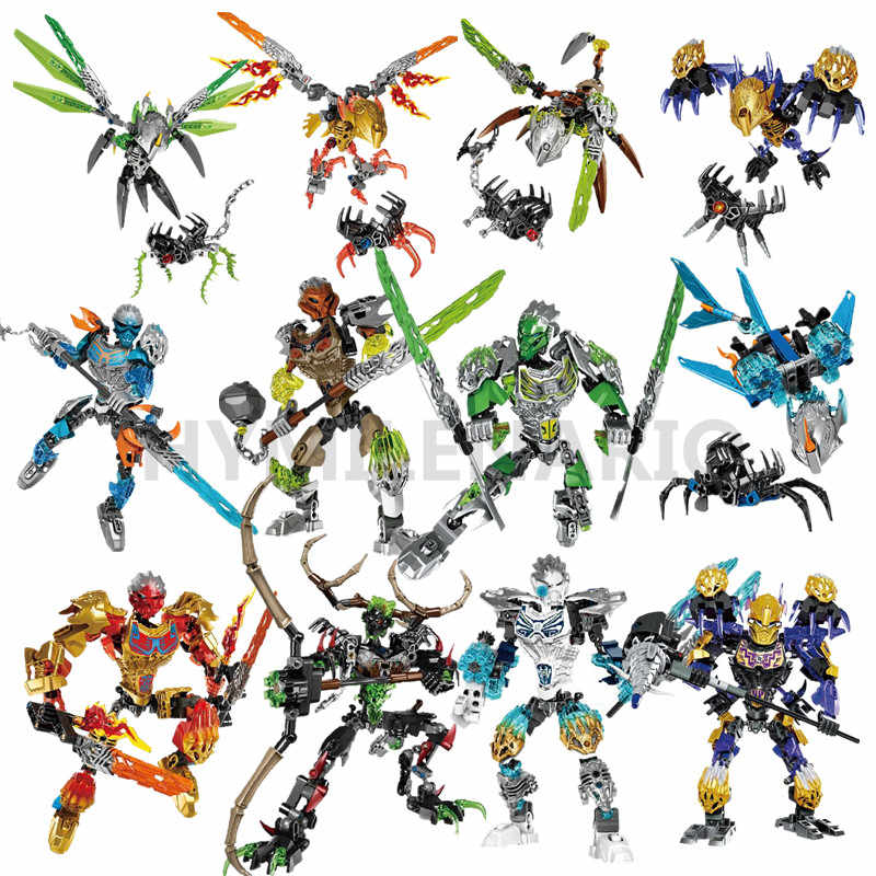27 Style Hero Factory Bionicle CALI Master Of Water Figures Building Block Bricks City Enlighten Assembly Toys For Children