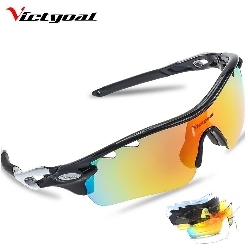 VICTGOAL Ciclismo Óculos Polarizados Homens Mulheres Óculos Caminhadas UV400 Bicicleta Óculos de Visão Noturna de Condução Camping Pesca Óculos MTB