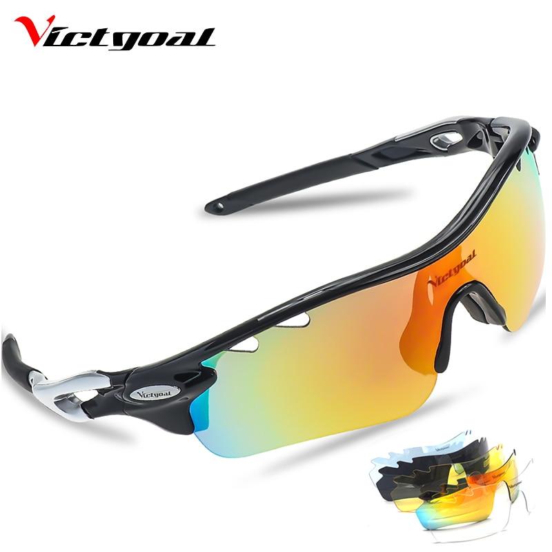 VICTGOAL ciclismo gafas polarizadas hombres mujeres senderismo gafas UV400 bicicleta gafas de visión nocturna de conducción Camping pesca MTB gafas