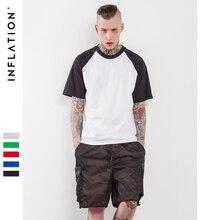 INFLATION 2017 Casual T Shirts Kurzarm Raglan T Mens Baseball Tops Fashion Trend Hip Hop Skateboard T-shirt