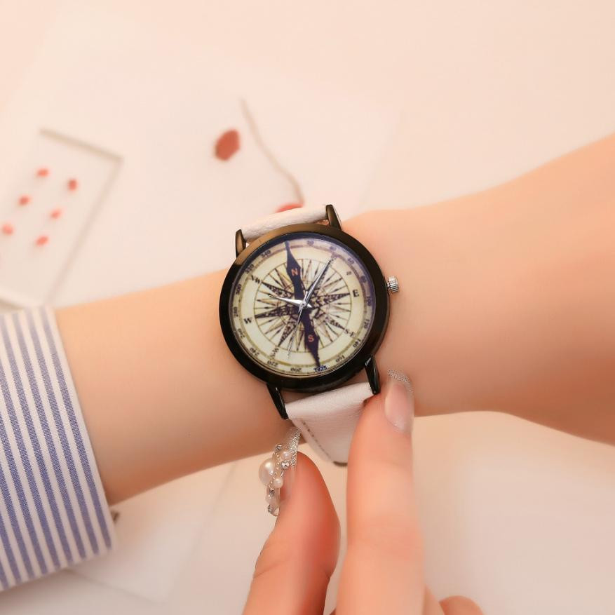 Women's Fashion Casual PU Leather Strap Analog Quartz Round Watch women watches relojes para mujer montre femme horloges vrouwen