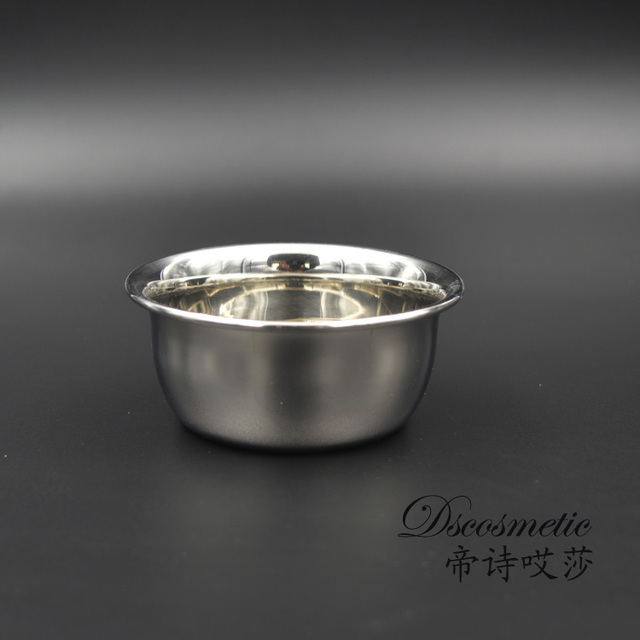 New Stylish Shinning Stainless Steel Shaving Mug Bowl for Brush Soap Shaving Soap
