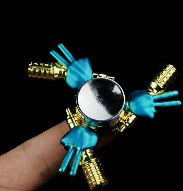 Hand Spinner Finger Fidget Hybird Bearing Gyro Toys Metal EDC Kids Adult Focus Toy
