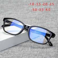 Anti-blue jasna koszulka dla kobiet mężczyźni okulary dla osób z krótkowzrocznością ze stopniem Fashion PC niebieskie światło blokujące krótkowzroczne okulary-1 0 -1 5 -2 0 do-4 0 tanie tanio GSBJXZ Unisex Z tworzywa sztucznego CN (pochodzenie) GEOMETRIC G3028 FRAMES Okulary akcesoria 62-64mm