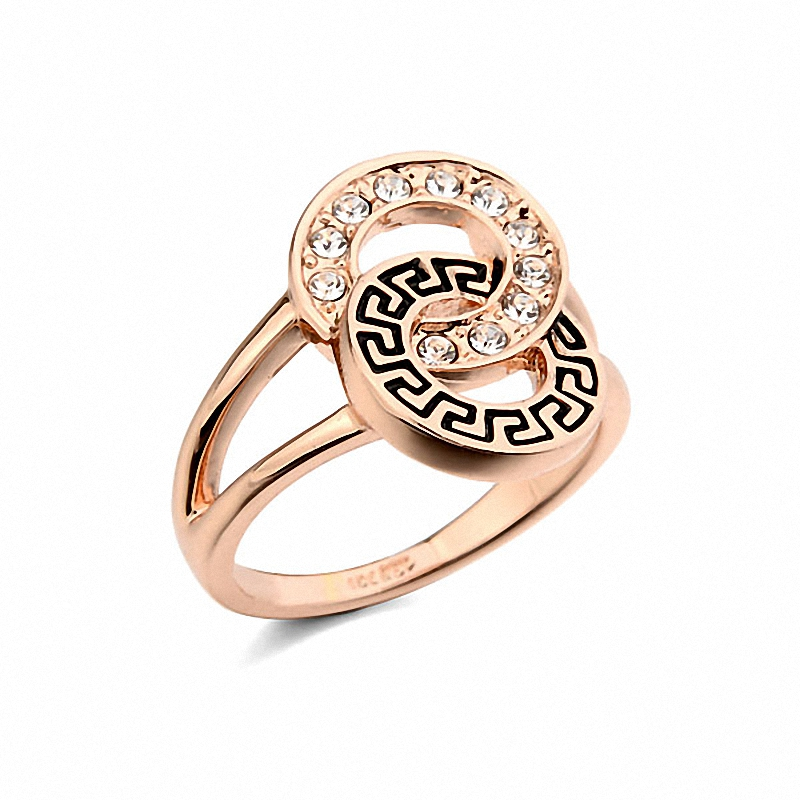 Brand TracysWing Rings O For For Women Genuine Austrian Crystals Gold Color 8 Fashion Fashion