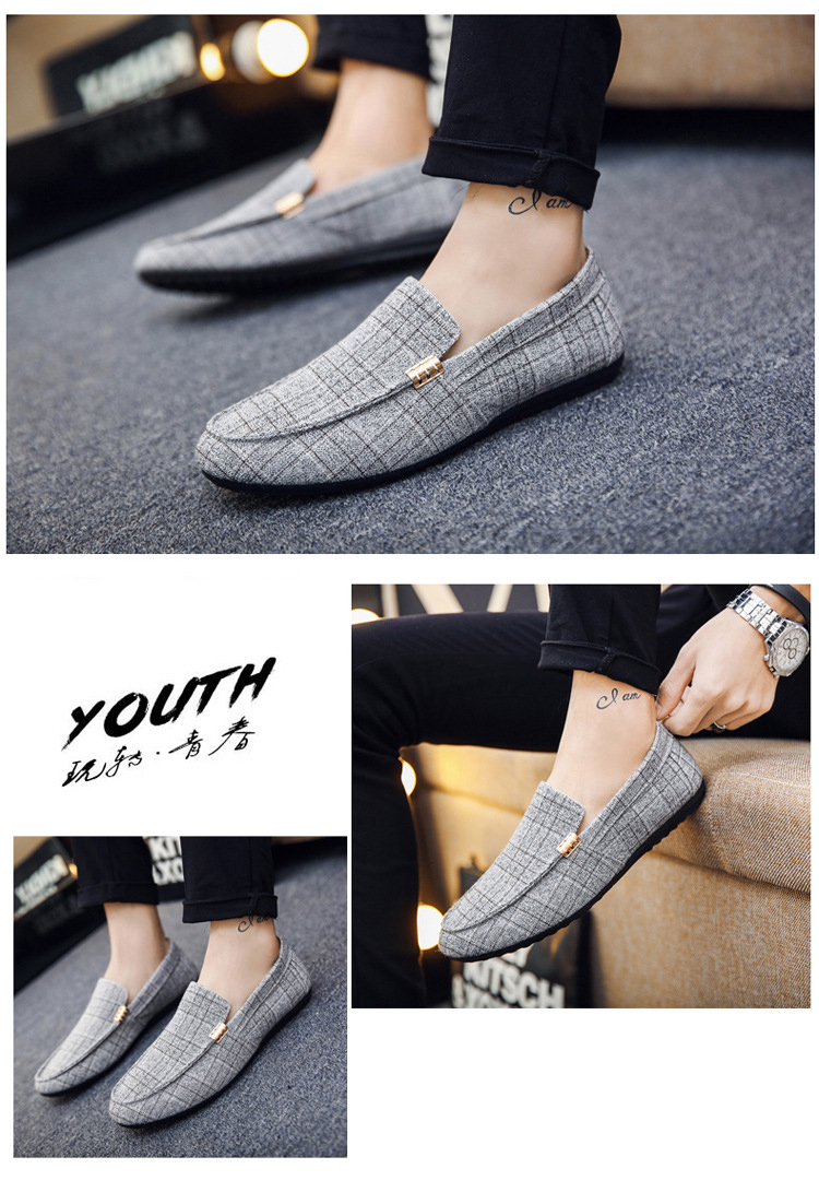 HTB10Q6bX0jvK1RjSspiq6AEqXXa9 Men Casual Shoes Spring Summer Men Loafers New Slip On Light Canvas Youth Men Shoes Breathable Fashion Flat Footwear