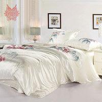 Домашний текстиль Цзяннань стиль печати 16 мм 100% шелк постельного белья, пододеяльник и наволочки постельные принадлежности лист total4pcs King size