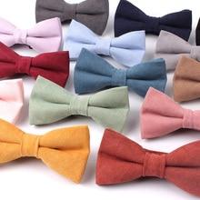 Новинка, карамельный цвет, мужской галстук-бабочка, классические рубашки, галстук-бабочка для мужчин, бант для взрослых, одноцветные галстуки-бабочки, галстуки для Свадьба