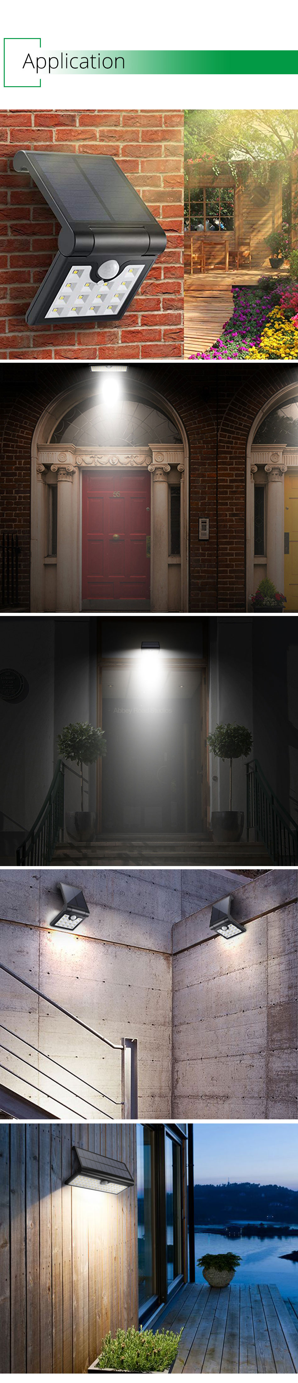 IP65 Outdoor Solar Led Lighting Home Garden Street Courtyard Solar Wall Lights Motion Sensor Lamp Modern Lithium Battery (13)