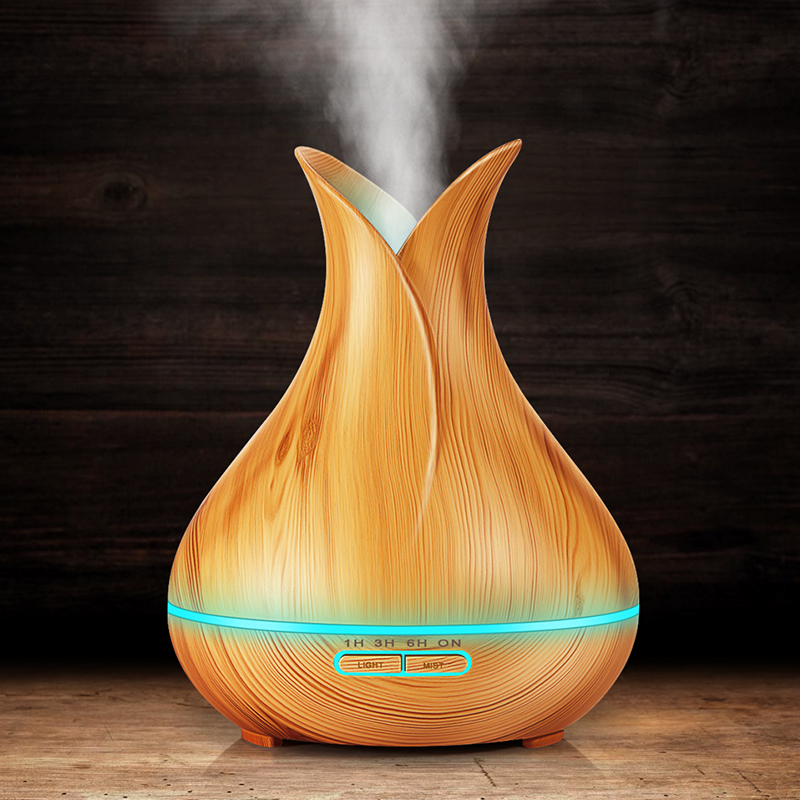 DEKAXI 400ml  Ultrasonic Air Humidifier Mist Maker Fogger Electric Aroma Diffuser Essential Oil Aromatherapy Household For Home