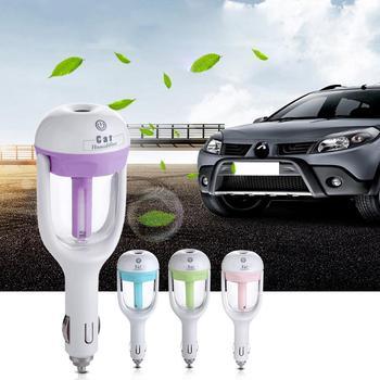 1 sztuk 12V samochód parowy nawilżacz powietrza rozpylacz zapachów mini oczyszczacz powietrza olejku aromaterapeutycznego dyfuzor Mist Maker Fogger