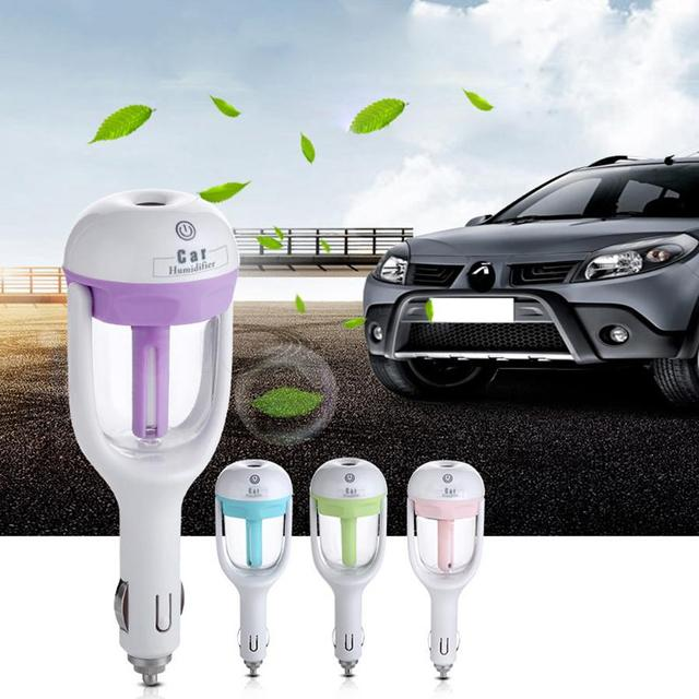 1Pcs 12V Car Steam Air Humidifier Aroma Diffuser Mini Air Purifier Aromatherapy Essential Oil Diffuser Mist Maker Fogger