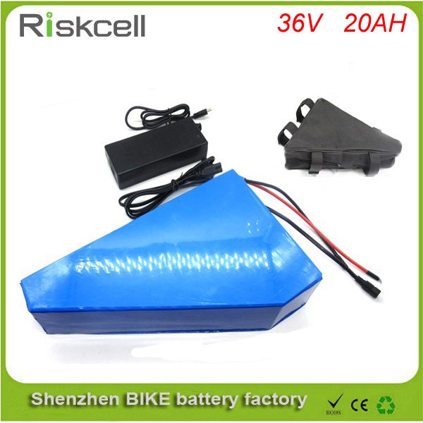 Free customs taxe  36v 20ah triangle battery 36v ebike lithium batterie 36v 1000w li-ion battery pack for electric bicycle 48v 34ah triangle lithium battery 48v ebike battery 48v 1000w li ion battery pack for electric bicycle for lg 18650 cell