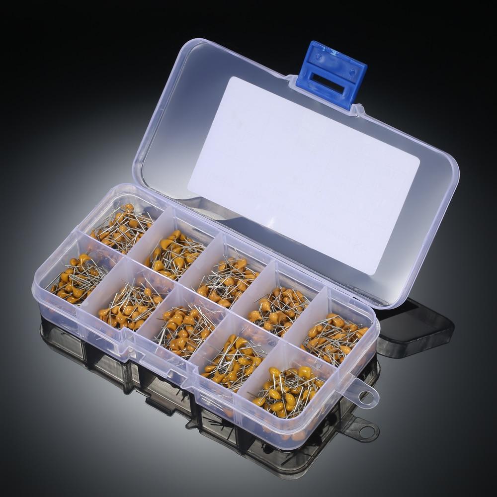 20Pcs 50V Monolithic Multilayer Ceramic Capacitors 10-470 Values pF//nF//uF 5.08MM